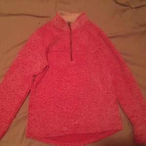 Pink fur winter coat